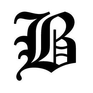 Old English Alphabet Letter B Decal: Automotive
