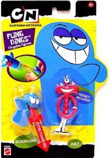 Cartoon Network Fling Dings Flingable Figure 2 Pack Bloo & Wilt Toys & Games