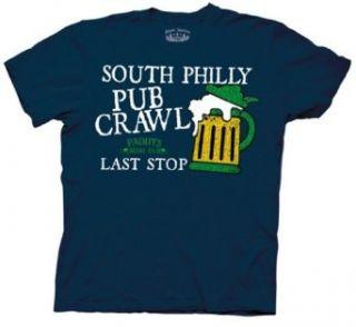 Mens Its Always Sunny In Philadelphia Pub Crawl T shirt Clothing