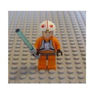 Lego Star Wars Mini Figure Luke Skywalker X Wing Pilot with Lightsaber (Approximately 45mm / 1.8 Inches Tall) Toys & Games
