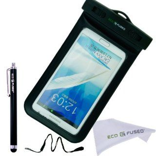 Samsung Galaxy Note 2 Waterproof Case with IPX8 Certificate plus 1 Stylus Pen and 1 ECO FUSED Microfiber Cleaning Cloth   Also Compatible with iPhone 5, 5S, 4, 4S, 3, 3S / Samsung Galaxy S4, S3, S2, S3 Mini, S4 Mini / iPod Touch 3, 4, 5 / HTC ONE X, S, Win