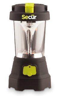 Secur Hand crank 3 LED mini Spotlight/ 10 LED Lantern/ 5 Emergency flashing red Lights with hanging handle, also serves as an emergency cell phone charger, charges with dynamo power or USB no batteries needed, for camping & hiking Sports & Outdoor