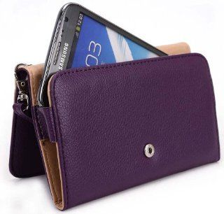 Wristlet Wallet with Detachable Strap and Credit Card Holder for Samsung Galaxy Note II SGH I317 AT&T Mobile (Fits Galaxy Note 3)   Purple // Also Available in Multiple Colors Cell Phones & Accessories