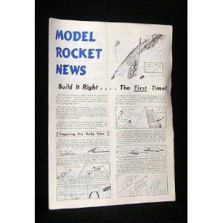 MODEL ROCKET NEWS VOLUME 4, NO.3 NOVEMBER (NOV) 1964 Includes Rocket Plans for #26 SLY BOLT and #27 DEACON; Also Includes TECHNICAL REPORT NO.TR 7 FRONT ENGINE BOOST GLIDERS (Vernon Estes Publisher) Model Rocket News Magazine Rocketry/History/Ephem