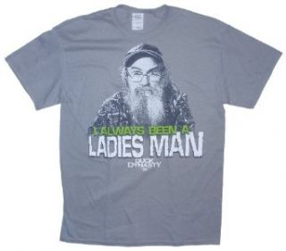 Duck Dynasty Si I Always Been A Ladies Man Licensed Graphic T Shirt   Medium: Clothing