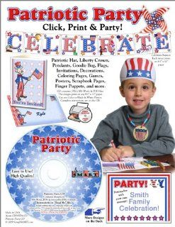 Scrapsmart   Patriotic Party Software Kit   Jpeg, Pdf, and Microsoft Word Files (CDPATPA170): Toys & Games