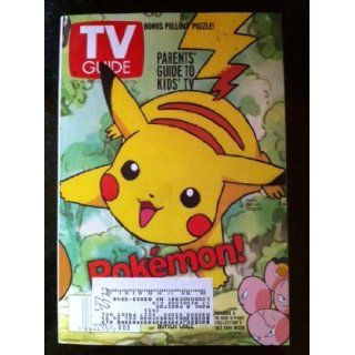 TV Guide October 30 November 5, 1999 (1 of 4 covers) (Pikachu and Exeggcute of Pokemon The Ultimate Kid Craze of the Decade; Jesse L. Martin Broke Ally McBeal's Heart Then He Got Life On Law & Order; Top 10 New Kids' Shows Spongebob Squarepan