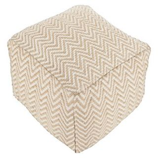Pouf: Threshold Pouf Jute & Ivory