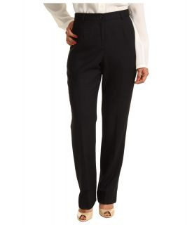 Pendleton Petite Worsted Wool True Fit Trouser Womens Dress Pants (Black)