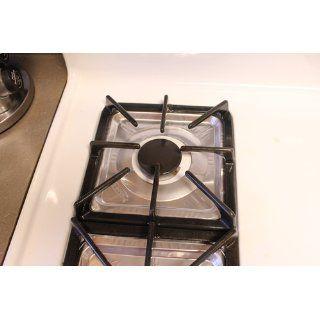 E Z Foil/Pactiv 6 Pack Square Aluminum Foilware Gas Burner Bib For Stove,8 1/4inch. X 8 1/4. 3/8 inch: Kitchen & Dining