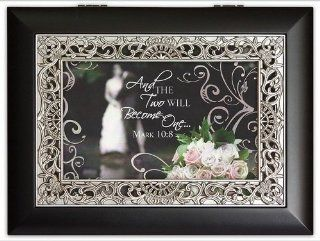 Bible Verse Two Become One Bridal Music Jewelry Box Wedding Gift You Light Up My Life 1595s