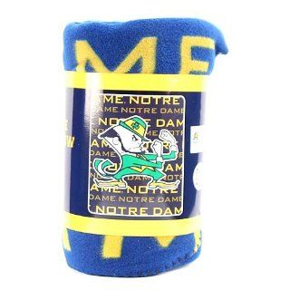 "Notre Dame Fleece Blanket (Measures Approximately 50"" x 60"") : Throw Blankets : Sports & Outdoors"