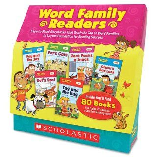 Word Family Readers Set, 80 Books/16 Pages and Teaching Guide, Grades K 2  Early Childhood Development Products