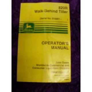 John Deere 820R Walk Behind Tiller OEM OEM Owners Manual: John Deere: Books