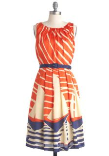 Eva Franco Maritime Moxie Dress  Mod Retro Vintage Dresses