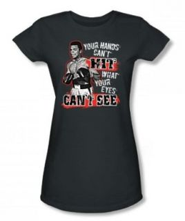 Muhammad Ali   Can'T Hit Juniors / Girls T Shirt In Charcoal at  Women�s Clothing store: Fashion T Shirts
