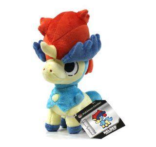 "Pokemon Center Black and White Pokedoll Plush Doll USA   8"" Keldeo Toys & Games"