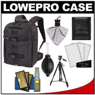 Lowepro Pro Runner 350 AW Digital SLR Camera Backpack Case (Black) + Tripod + Accessory Kit for Nikon D3100, D3200, D5100, D5200, D7000, D7100, D600, D800 Digital SLR Cameras  Camera & Photo