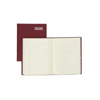"""Rediform Office Products Products   Record Ruled Book W/Margin, 150 Page, 10 3/8""""x8 3/8"""", Red   Sold as 1 EA   Hard cover account book features faintly record ruled pages with margin lines. Pages are numbered for easy reference and printed in gre"""