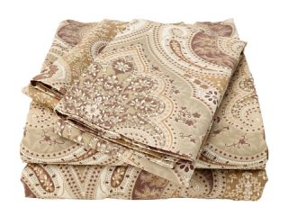 Elite Milano Paisley Collection 100 Percent Cotton Sateen 4 Piece Sheet Set Queen