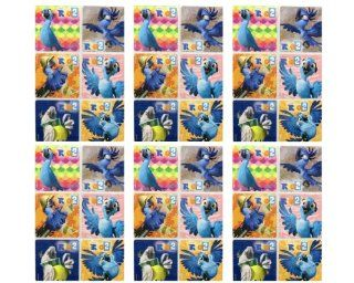 """RIO 2 Stickers   Rio 2 Birthday Party Favor Sticker Set Consisting of 45 Stickers Featuring 6 Different Designs Measuring 2.5"""" Per Sticker Toys & Games"""