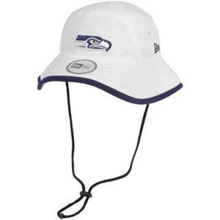 New Era Seattle Seahawks Training Bucket Hat   White