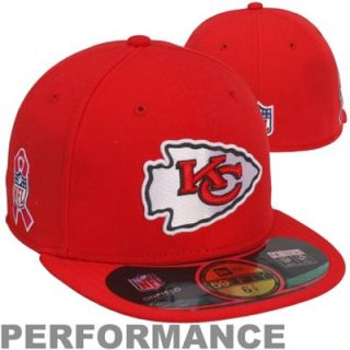 New Era Kansas City Chiefs Breast Cancer Awareness On Field 59FIFTY Fitted Performance Hat   Red
