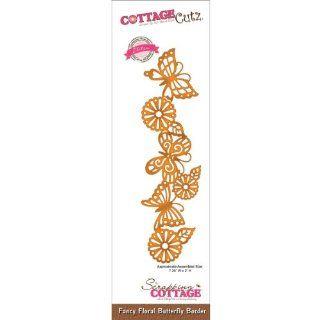 CottageCutz Elites Die Fancy Floral Butterfly Border CottageCutz Elites Die Fancy Floral Butterfly