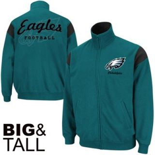 Philadelphia Eagles Big Sizes Full Zip Track Jacket   Midnight Green