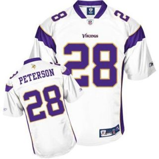 Reebok NFL Equipment Minnesota Vikings #28 Adrian Peterson White Youth Premier Tackle Twill Jersey