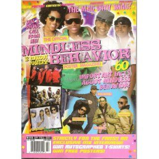 Word Up Official Mindless Behavior Poster Magazine (Fall 2011)   Contains 12 Posters (Front & Back)   MB   Newsstand Edition (No Address Label) Right On Magazine Books