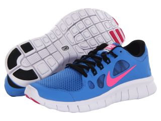 Nike Kids Free 5.0 (Big Kid) Distance Blue/Black/White/Pink Foil