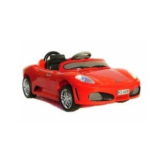 Radio Remote Controlled Electric Ride On Ferrari Sports Car for Kids Ages 3 5 w/ Lights & Sound Effect (Red) Toys & Games