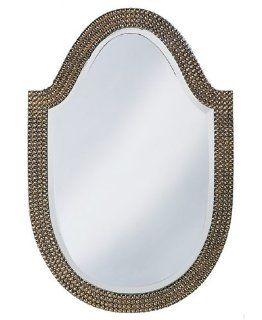 """Alberta Mother of Pearl Effect 32"""" High Wall Mirror   Wall Mounted Mirrors"""