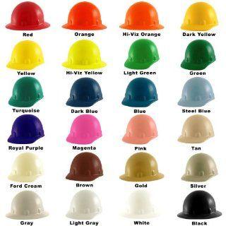 Fibre Metal Supereight Hard Hat with Ratchet Suspension  Orange Hardhats Industrial & Scientific
