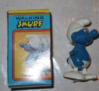 Vintage Smurfs Wind up Walking Smurf : Lunch Boxes : Everything Else