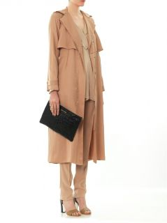 Satin crepe trench coat  Lanvin