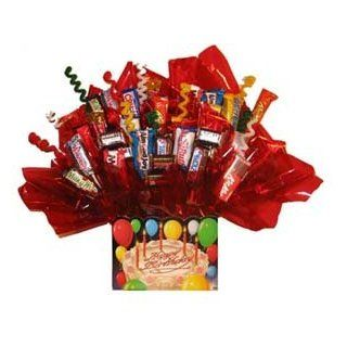 Chocolate Candy Bouquet in a Happy Birthday box