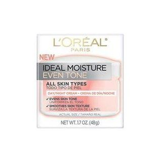 L'Oreal Ideal Moisture 48 Hour Hydration Even Tone Day and Night Cream 1.7 oz. (Pack of 3) : Body Lotions : Beauty