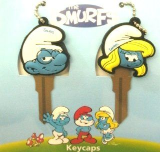 The Smurfs Comic Television Franchise Brainy & Smurfette Car Truck SUV Key Chain Caps Covers: Automotive