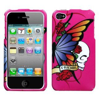 Apple iPhone 4 Cell Phone Snap on Cover Best Friend Hot Pink Cell Phones & Accessories