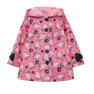 Peppa Pig Girls pink Peppa Pig print shower proof coat