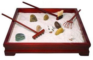 Relaxation Products Deluxe Wooden Zen Meditation Garden *Great Gift Set for Friends, Family, Office, etc* Health & Personal Care