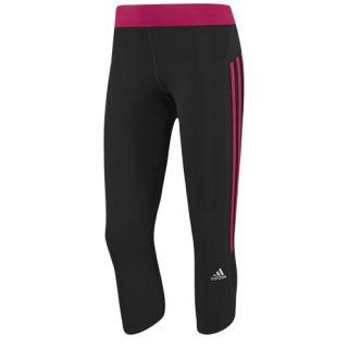 adidas Response 3/4 Tight   Womens   Running   Clothing   Black/Vivid Berry