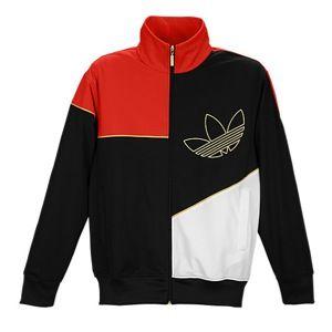 adidas Originals Modern Prep Jacket   Mens   Casual   Clothing   Black/Light Scarlet