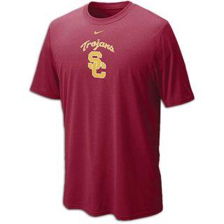 Nike College Dri Fit Logo Legend T Shirt   Mens   Basketball   Clothing   USC Trojans   Varsity Crimson
