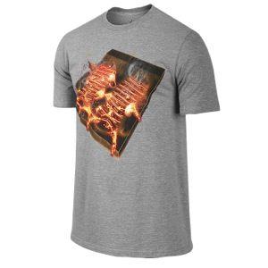 Jordan Retro 10 Steel Mold T Shirt   Mens   Basketball   Clothing   Dark Grey Heather/Challenge Red