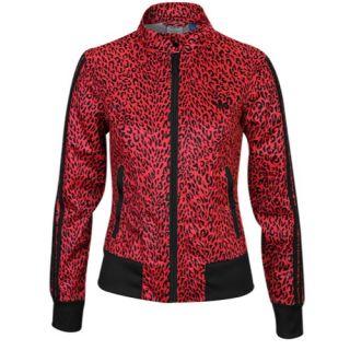 adidas Originals Supergirl Print Track Jacket   Womens   Casual   Clothing   Blaze Pink/Black