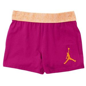 Jordan Flygirl Roll Over Shorts   Girls Grade School   Basketball   Clothing   Atomic Teal/Fusion Pink
