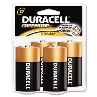 Duracell Products   Duracell   Coppertop Alkaline Batteries, D, 4/Pack   Sold As 1 Pack   Trusted EverywhereTM.   Reliable, long lasting, portable power.   Enhanced secure seal.   Ideal for everyday devices.   Date coded. : Aa Batteries : Office Products
